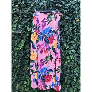 ASOS Tall Tropical Print Maxi Wrap Skirt